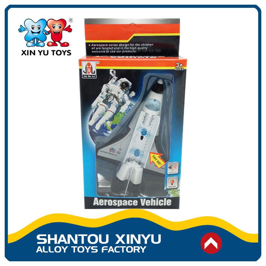 Литья под давлением модели aerospaceplane пространство мини коллекционные игрушки со светом