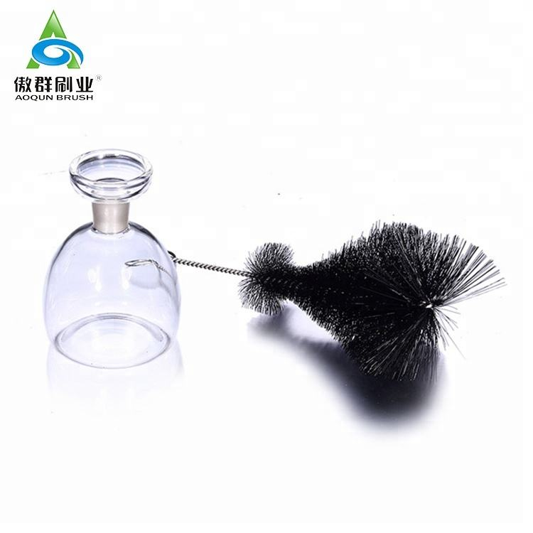 Factory customized wine bottle brush industry bottle cleaning brush