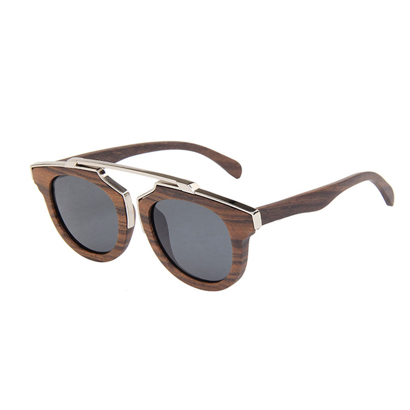 Handmade Wood vintage bamboo Sunglasses Polarized black sandal Wooden Sunglasses
