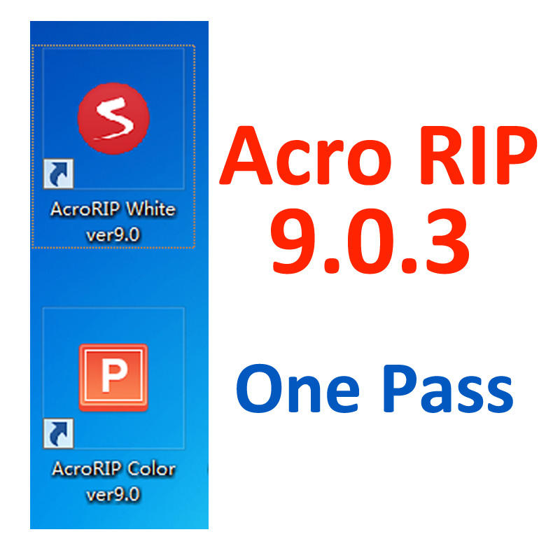 2020 Newest Free Download One Pass White Ink AcroRIP ver9.0.3 Acro RIP Software 9.0.3 Version For UV DTG Flatbed Printer