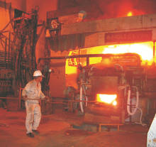 Designed electric  arc furnace and ladle refining (LF) furnace