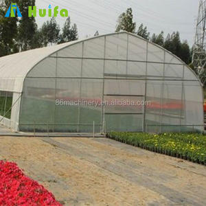 Farming equipment china single span tunnel tomato greenhouse for sale