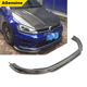RZ style real carbon fiber front lip spoiler for Volkswagen VW Golf 7 MK7 GTI R