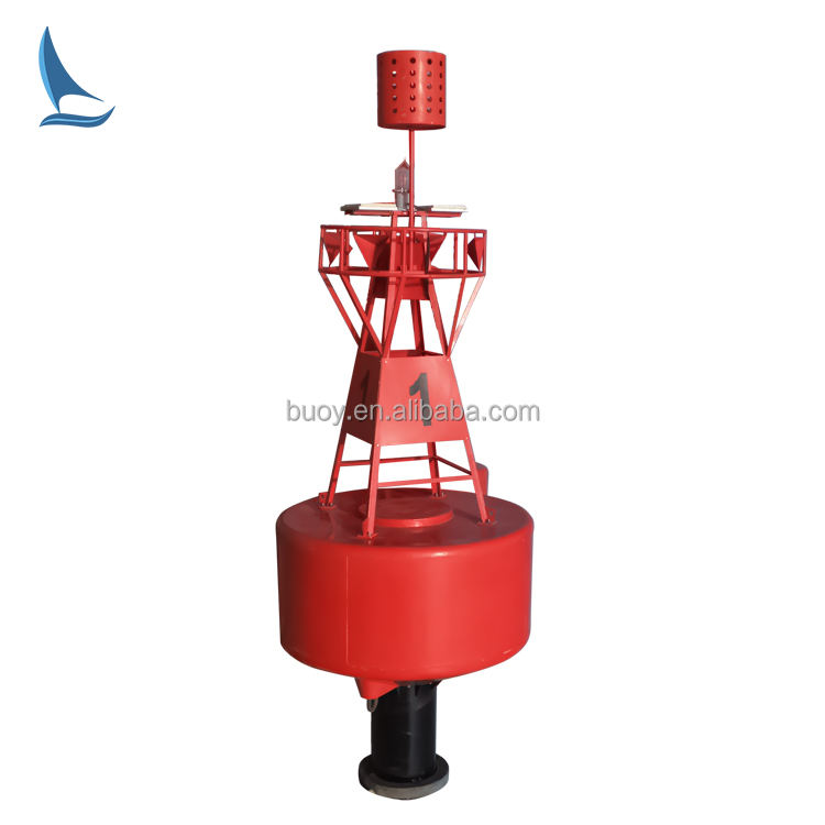 Custom-made radar reflector equipped marine water maker buoy set