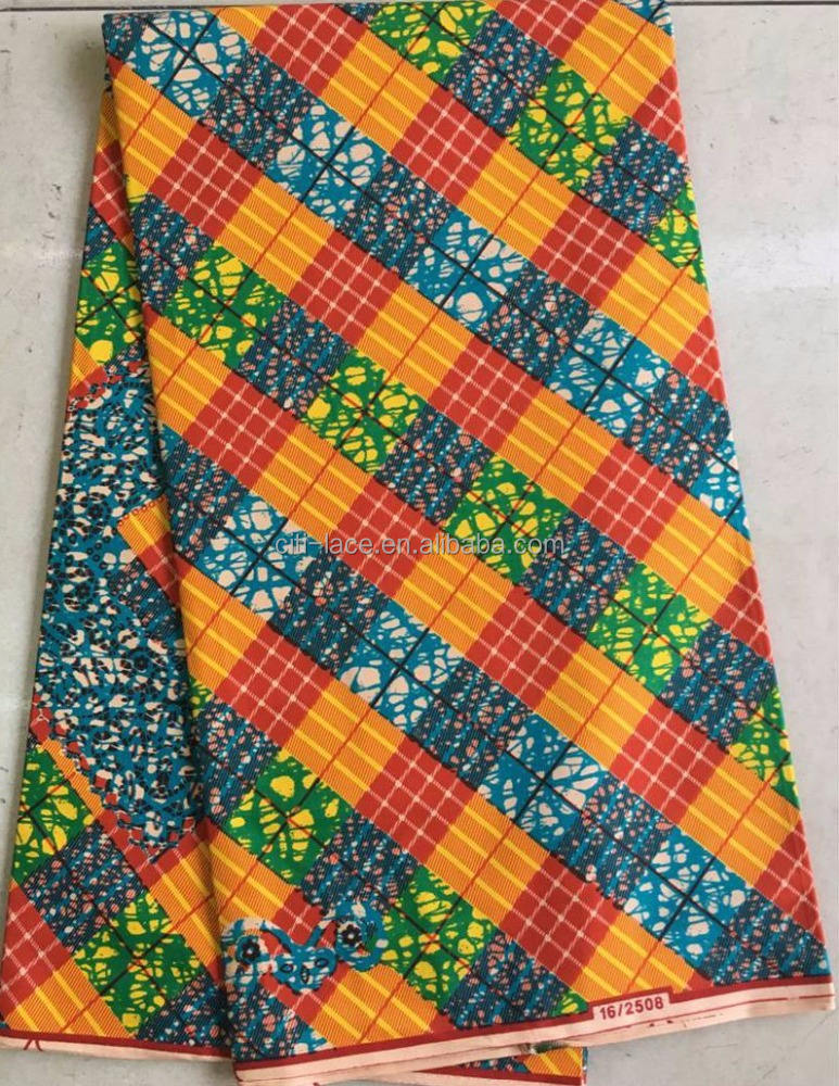 Africa hollandis real wax cotton fabrics multi color/veritable wax block prints fabric H833
