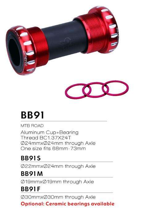 BSA Bottom Bracket Bike Bracket Thread 68-73mm GINEYEA BB91