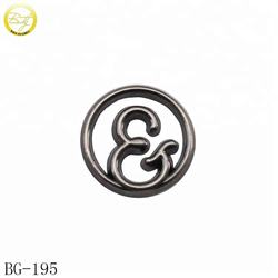 Custom small garment metal logos hollow brand letter metal labels tag for underwear