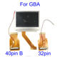 For Nintend GameBoy Advance LCD Screen For GBA SP AGS 101 Highlit Screen LCD OEM Backlit Brighter with 40pin/32pin ribbon cable