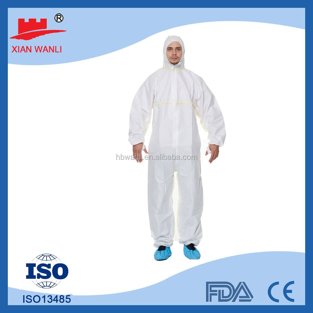 high-quality soft material disposable acid resistant protective clothing,non woven coverall