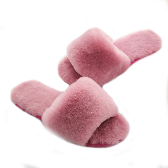2019 New Style Warm Real Wool Fur Slippers Many Colors Indoor Luxury Fur Australia Sheepskin Lamb Fur Slippers Women