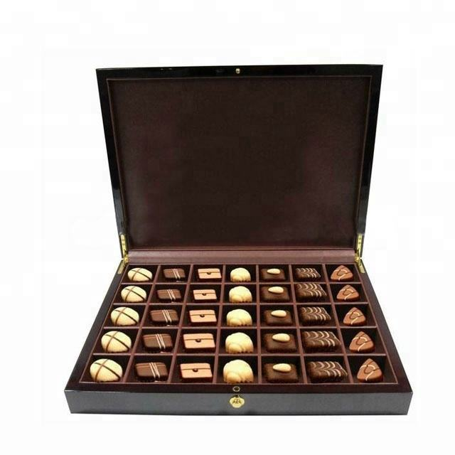 new design luxury wooden chocolate packing box ,chocolate gift box ,decoration chocolate box