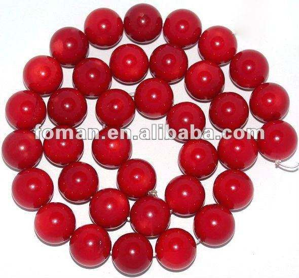 10mm round loose natural oil dyed beads natural red coral stone