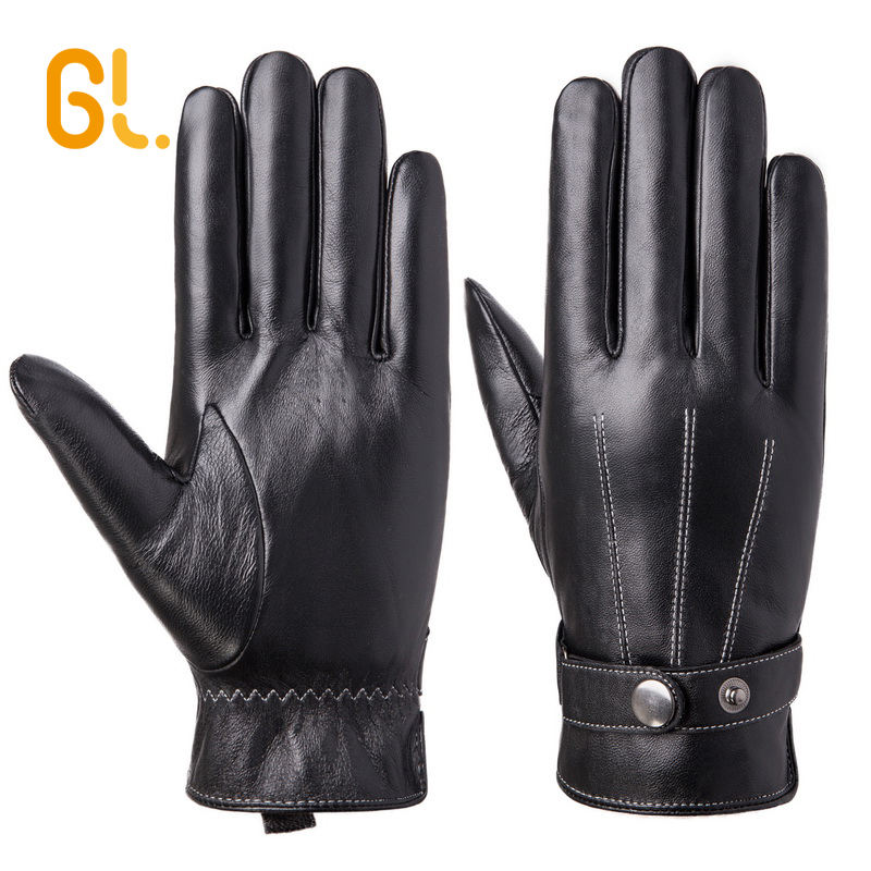 M1 Thinsulate GL Men's Genuine Sheepskin Leather Car Driving Gloves Men for Wholesale