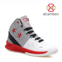 Factory New High Cut Breathable Student Sports Shoes Sneakers For Men Durable Waterproof Men Basketball Shoes