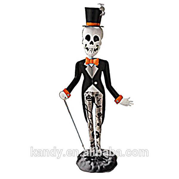 """D'halloween. style"""" tête de mort"""" <span class=keywords><strong>en</strong></span> <span class=keywords><strong>métal</strong></span> <span class=keywords><strong>décoration</strong></span> de jardin"""