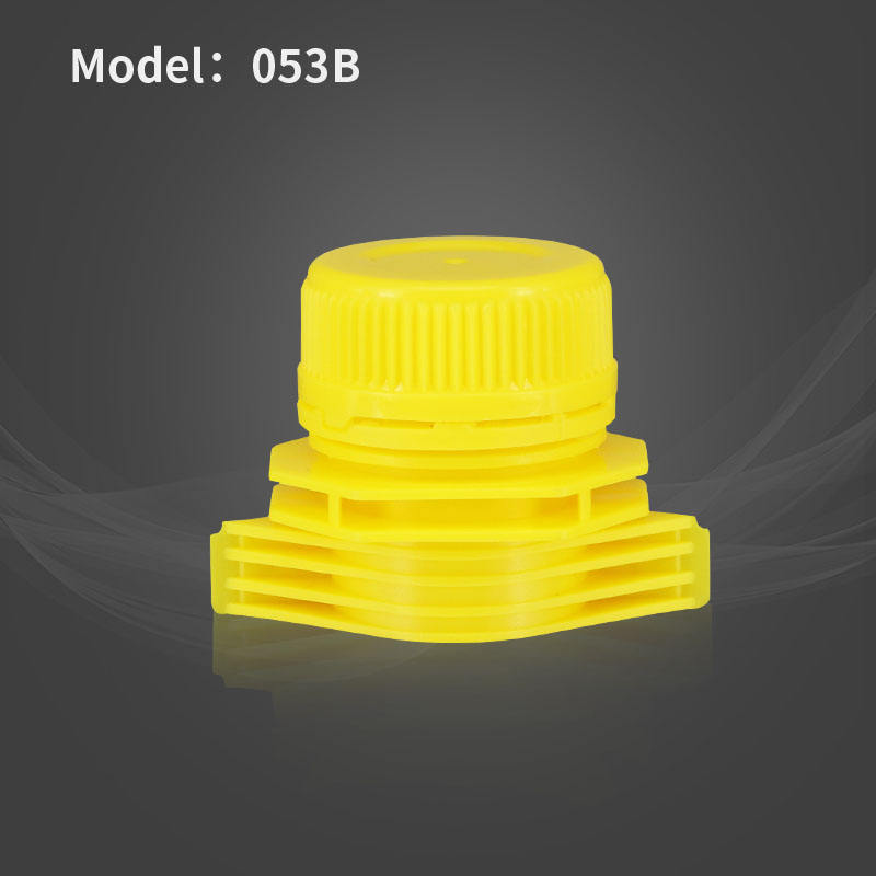 28mm Factory Hot Selling Colorful Plastic Nozzle Cap With Spout For Drinking Bottle