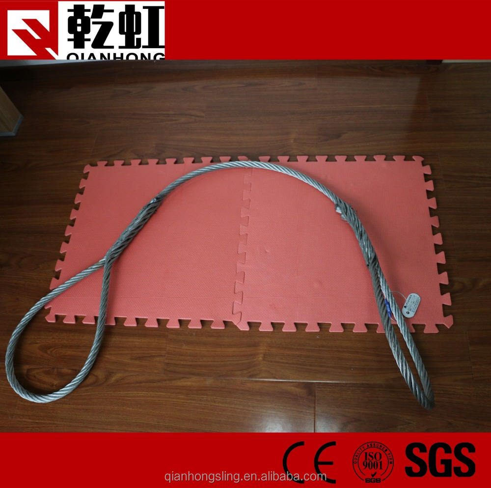 qianhong 8mm hand spliced galvanized steel wire clamp sling