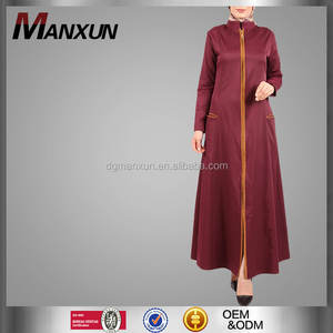Mantel fashion ritsleting depan terbuka panjang abaya