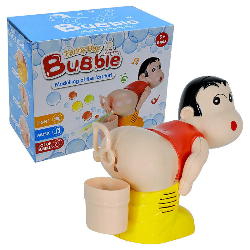 Crayon Shinchan Fart Carton Funny Bubble Machine Toy With Music Light