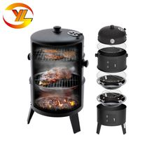 Hot Sale Commercial Outdoor Portable Charcoal Barbecue Smoker, Smoke BBQ grill