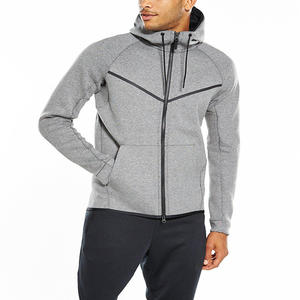 Design Ihre Eigenen Herren Qualität Plain Tech Fleece Zip Up Fitness gym Hoodies