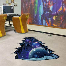 Self adhesive home decor space marble floor sticker