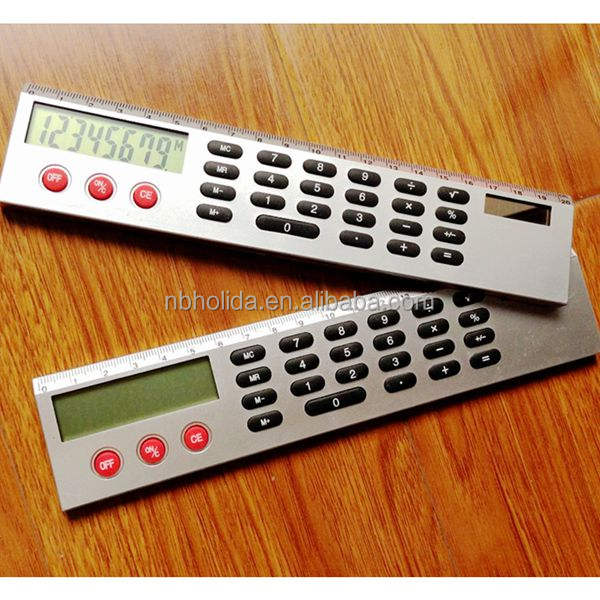 20 cm règle calculatrices, grand écran de bureau calculatrices promotionnelles/HLD-898