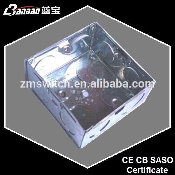 86 de hierro de tipo interruptor y del zócalo de la caja para la instalación al ras