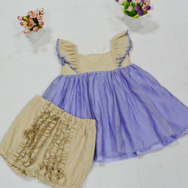 children's boutique clothing ruffle tunic and bloomer set