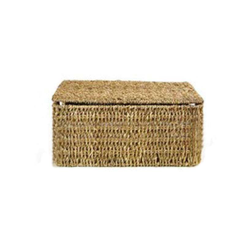 Seagrass storage baskets with lids from linyi