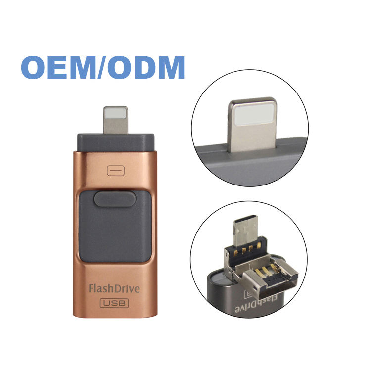 2020 New products Hot Selling 3 in 1 Pen Drive real capacity 256gb OTG USB 3.0 Flash Drive for Moebile Phone
