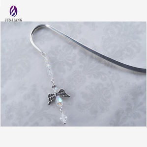 Best selling fashion Europe metal antique silver plated angel bookmark