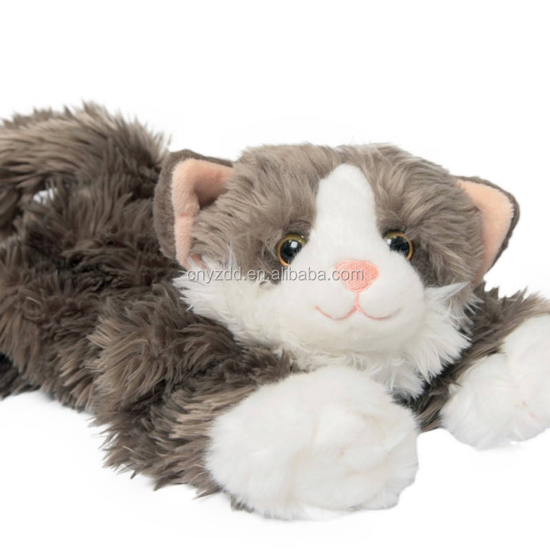 realistic cat plush toy/cute Cat Plush Stuffed Animal Toy/cat plush toys high quality small order