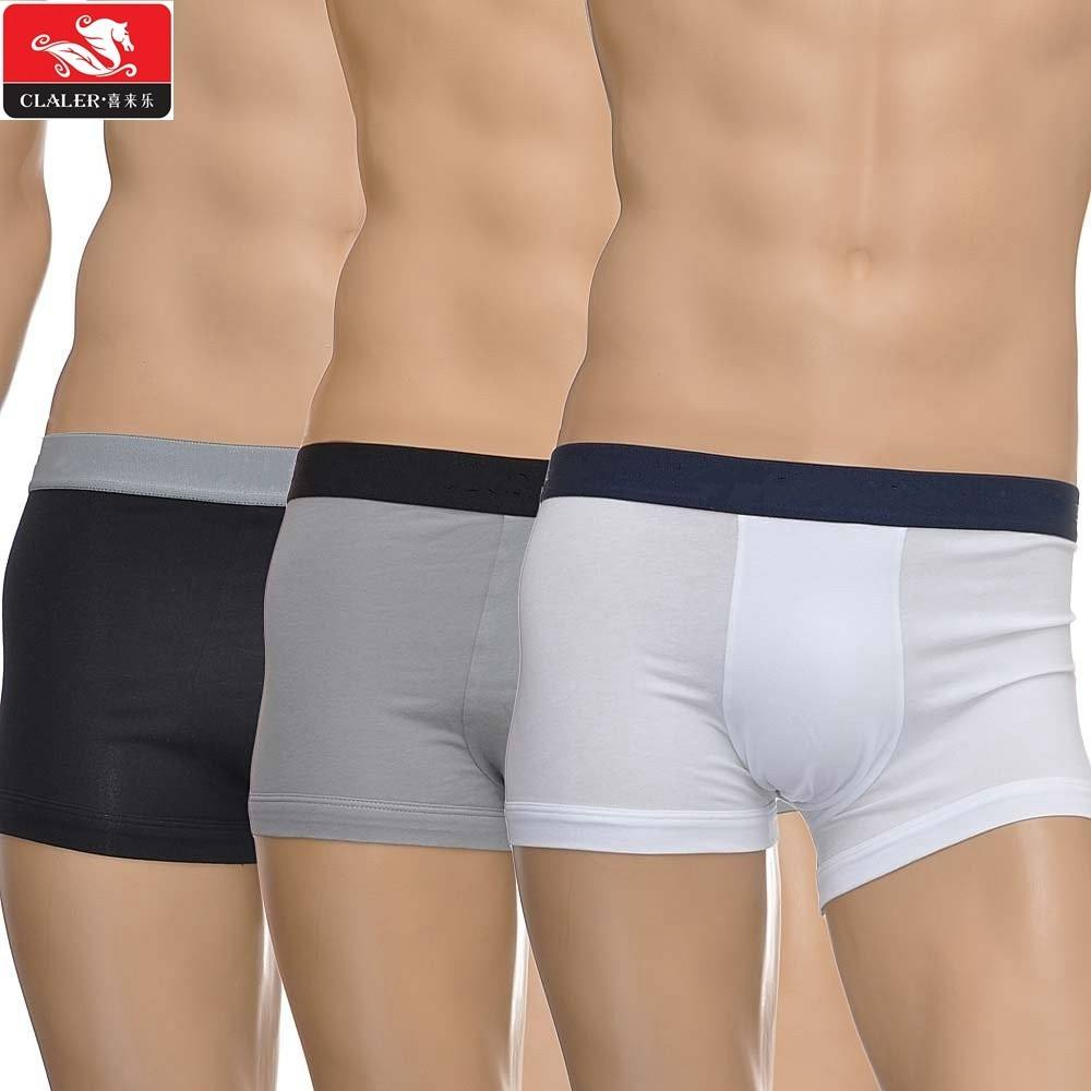 New Fashion Oem Logo Printed Plain Pattern Mens Boxer Shorts