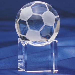 Beautiful crystal soccer ,crystal glass football trophy
