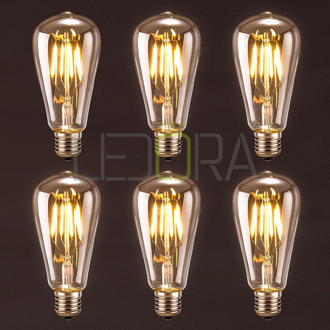 4W 6W 8W 10w filament bulb lamp 12V ETL vintage led light