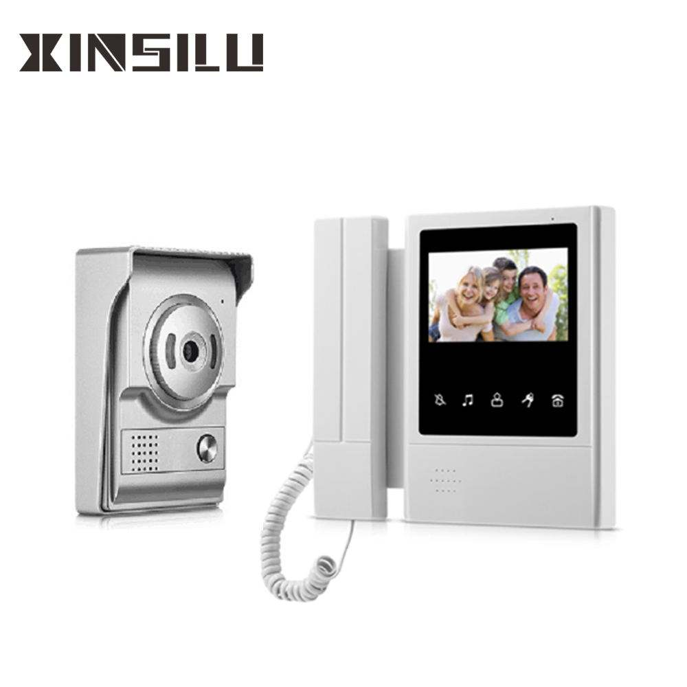 dual way intercom 4.3 inch video door phone intercom system for apartments