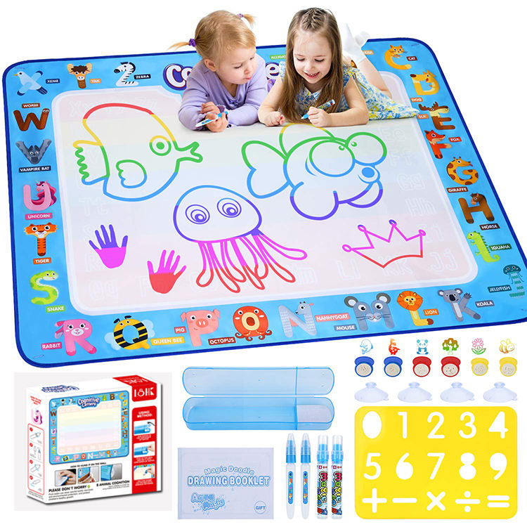 New products children educational drawing toys baby play large aqua doodle water magic pen painting water drawing mat for kids