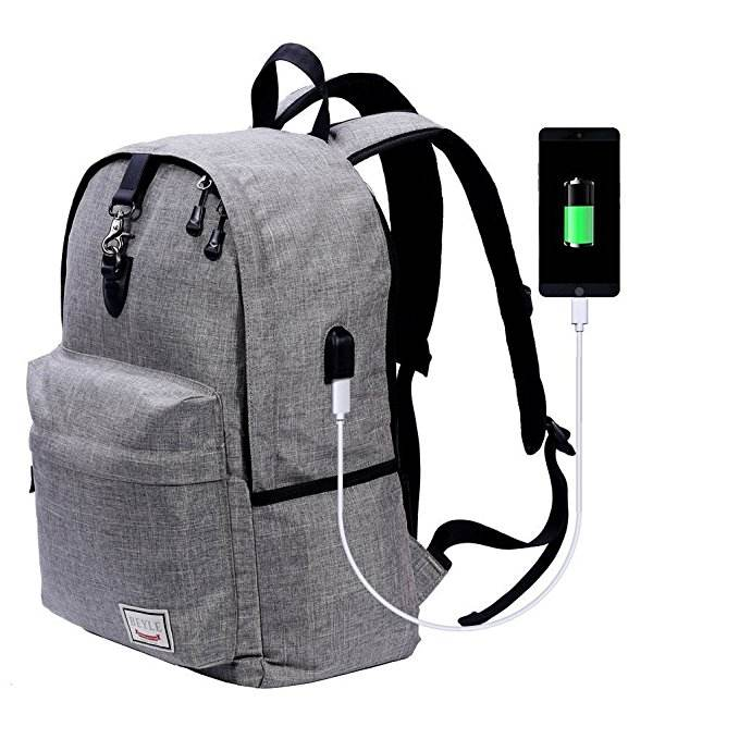 Campione gratuito Anti-furto Porta USB di Ricarica del computer portatile borse di affari dello zaino