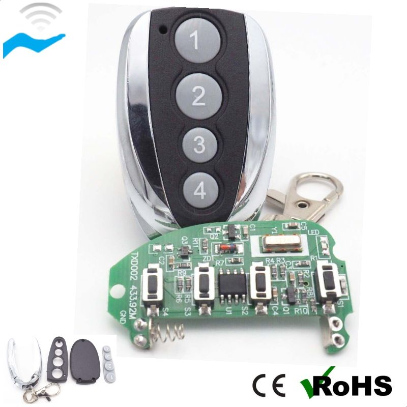 433Mhz 2 Button Fast Remote Control For Universal Gate Garage Door Key Fob Duplicator RF Wireless