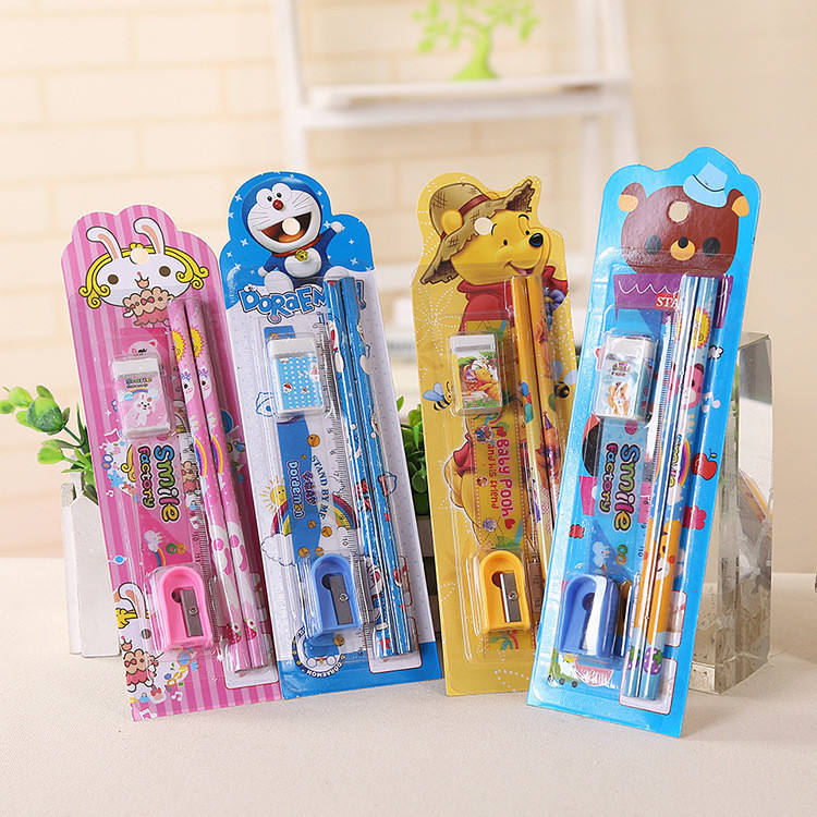 Promotional practical 2pcs HB back to school pencil gift set