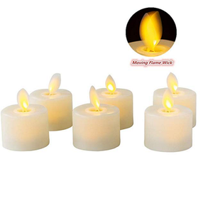 led tea candle battery operate flameless candle moving flame candle