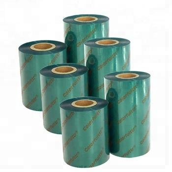 Colorful Thermal Transfer Ribbon Green Barcode Resin Ribbon Compatible Zebra Printer