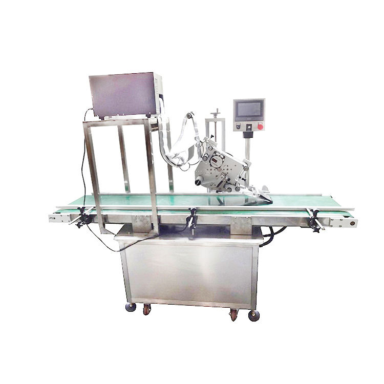 Free shipping carton box printed labeling machine for vegetables