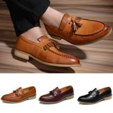 Men Fashion Casual Tassels British Style Brown Black Formal Driving Dressing Business Shoes Wedding Party Flats Shoe