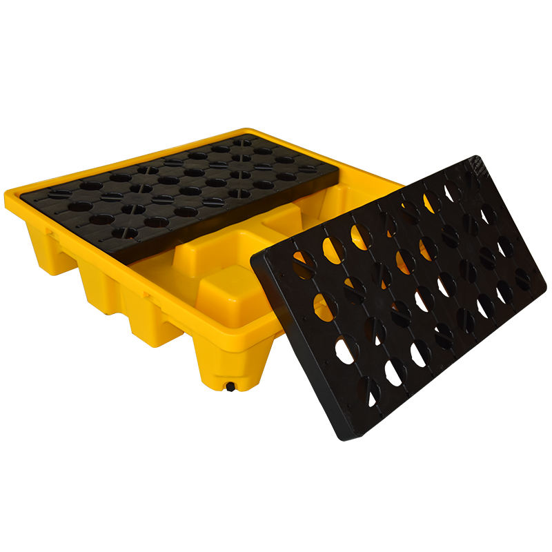 High quality cheap industrial poly hdpe control 4 drum ibc oil containment plastic spill pallet wholesale