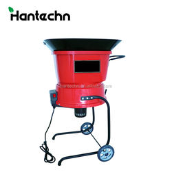 17.5'' wheeled home garden handheld tree branch mulcher and waste chipper shredder for dry leaves