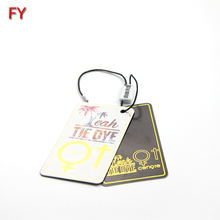Wholesale custom t shirt gold foil printed clothing price label hang tag