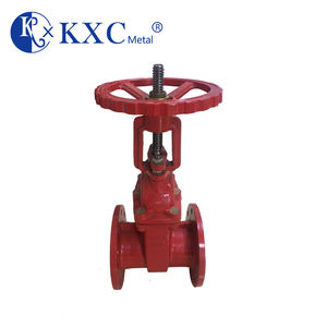 DIN3202 F4 pn10 cast iron flanged outside stem and yoke gate valve