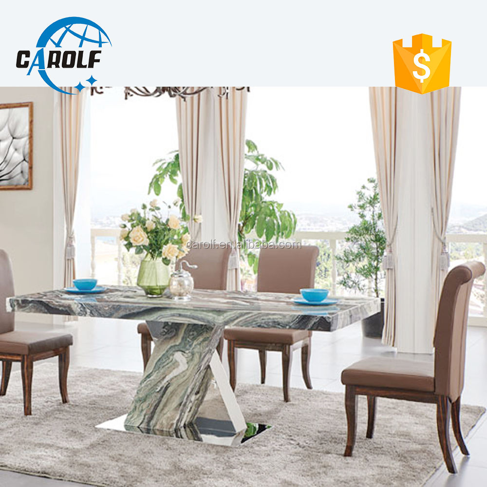 metal base 10 seater marble dining table with low price